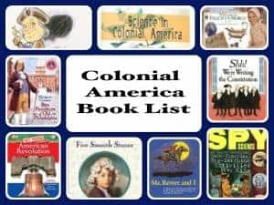 colonial america unit book list