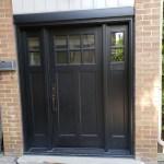 Black Fiberglass Craftsman Style Entry Door North York