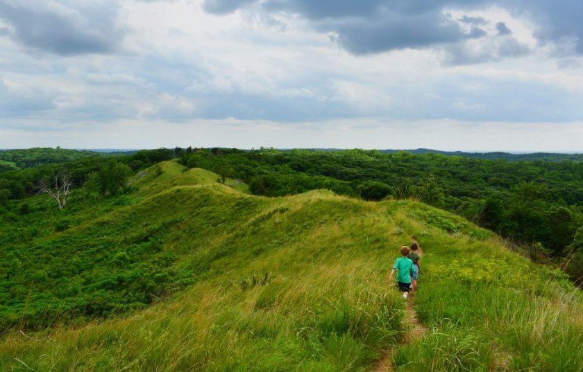 Loess Hills Scenic Overlook, Sioux, IA Loess Hills in Western Iowa