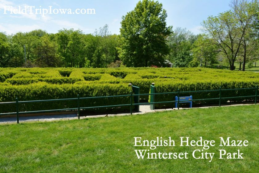 Winterset-City-Park-hedge-maze - Kid-friendly Weekend in Madison County