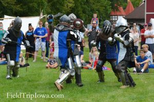 Raven's Armored Combat team battling at the Renaissance Faire at Sleepy Hollow