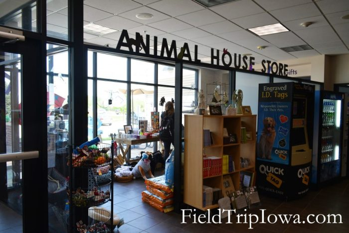 Animal House Store inside The Animal Rescue League of Iowa building.