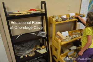 Educational room at Onondaga Cave State Park in Leasburg MO