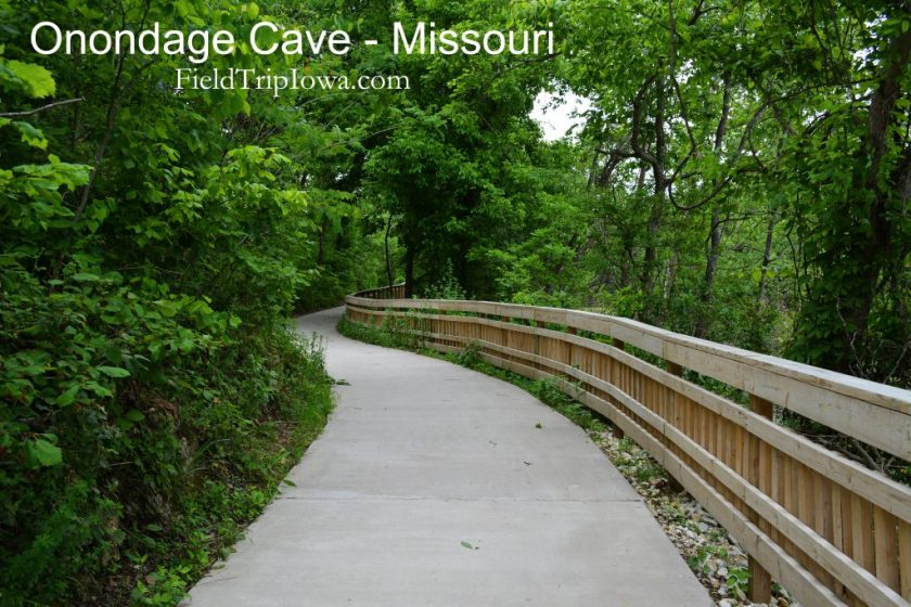 Paved path way at Onondaga Cave State Park in Leasburg MO