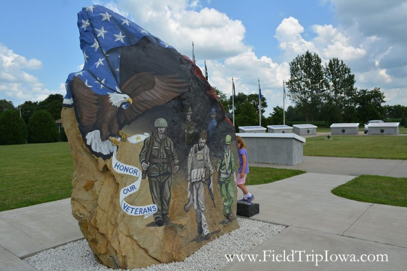 Painted Freedom Rock in Glenbrook Iowa