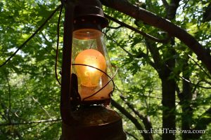 Electrical lantern at The Big Treehouse in Marshalltown Iowa