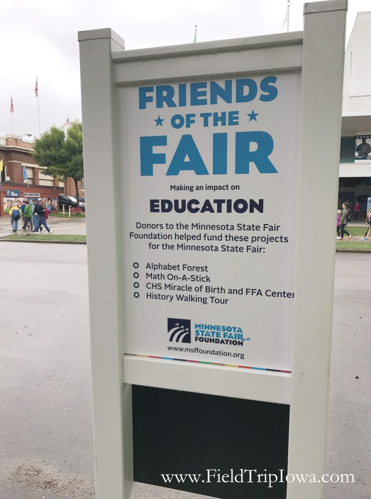 Sign for Minnesota State Fair Foundation