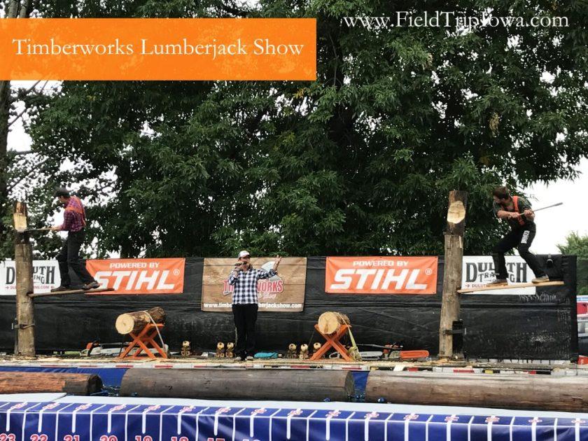 Timberworks Lumberjack Show at Minnesota State Fair