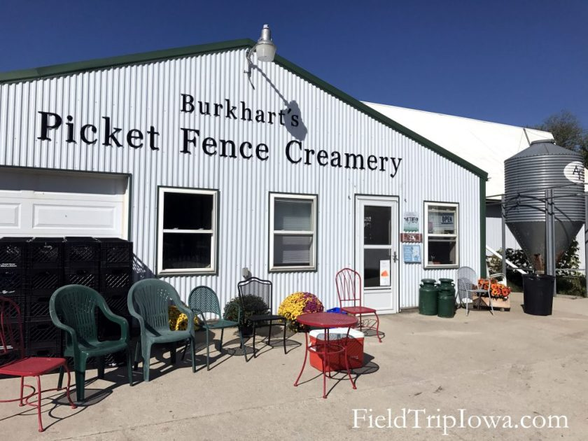 Store front for Iowa farm Picket Fence Creamery