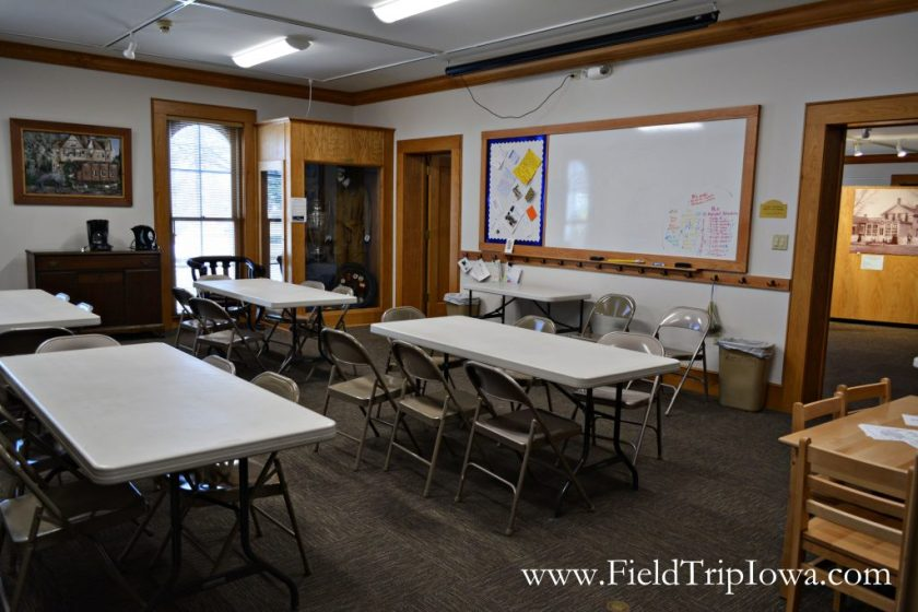Classroom space at Cedar Falls Historical Society in Iowa