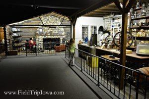 Pioneer display at Grout Museum District in Waterloo Iowa.
