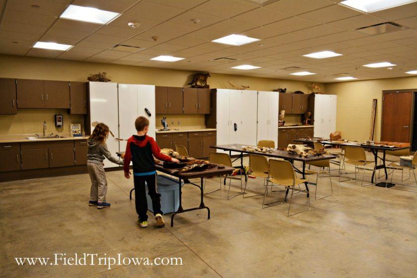 Classroom space at Hartmand Reserve Nature Center in Cedar Falls Iowa.