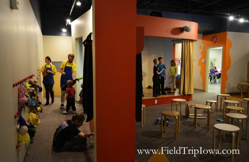 Stage and puppet theatre at Phelps Youth Pavilion in Waterloo Iowa