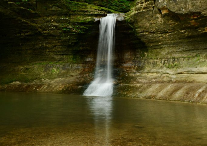 Cascade Falls in Matthiessen State Park - Family Trip to Starved Rock State Park in IL