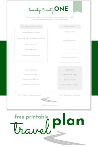 free printable travel planning sheet
