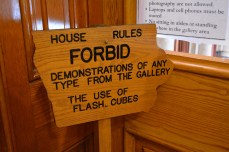 Signs in the Iowa Capitol