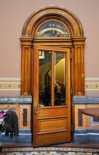 Stairway Door to the Senate in Iowa Capitol