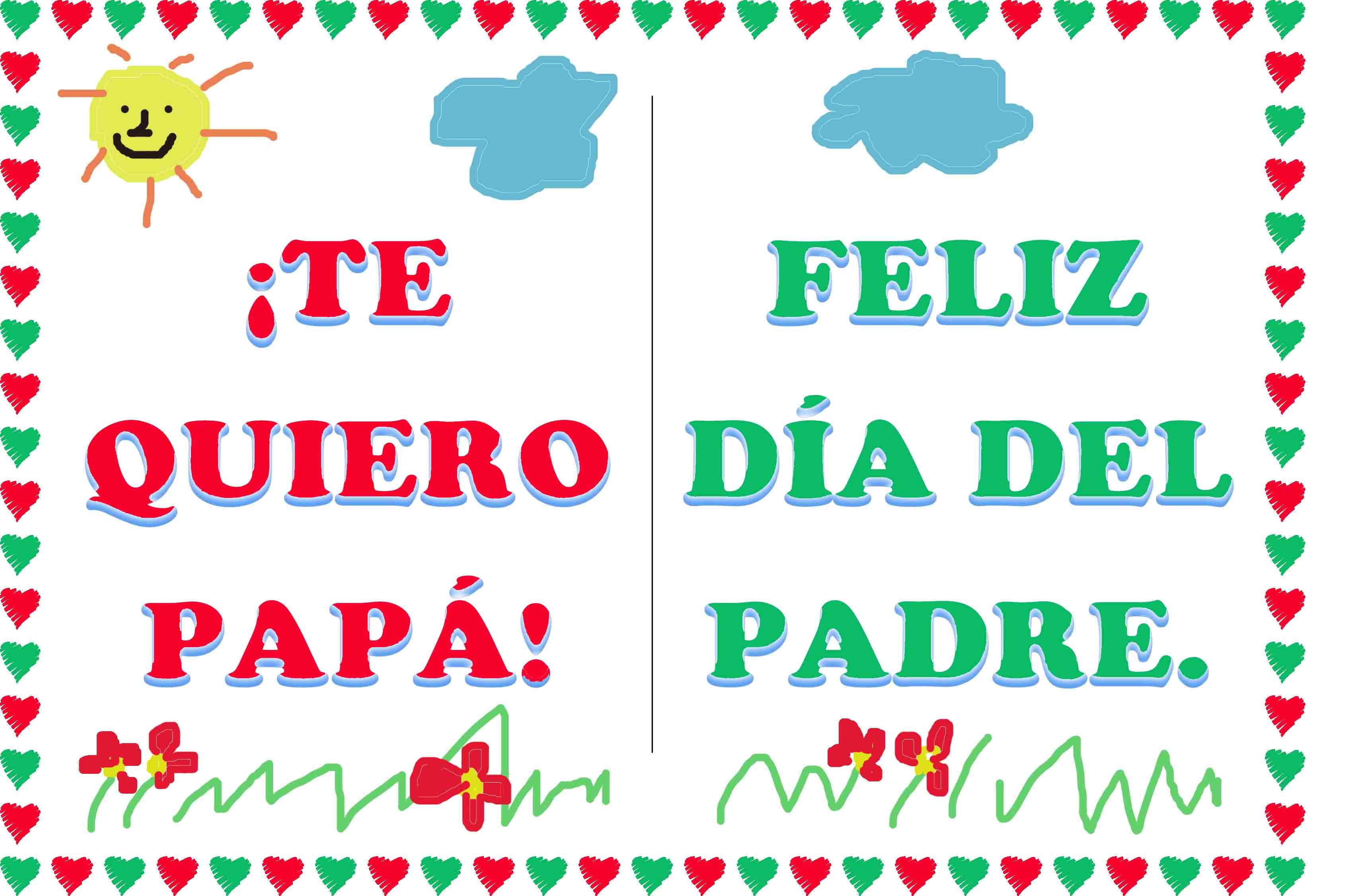Tarjetas Del Dia Del Padre Para Imprimir Y Colorear