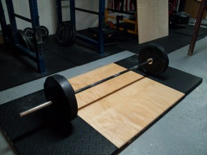 Bar waiting for a deadlift