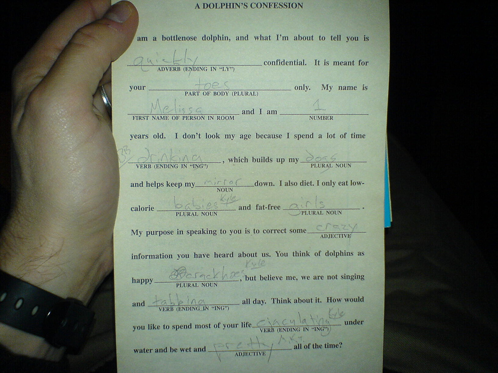 Adult Mad Libs Images