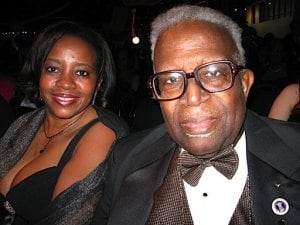 Yanick Rice Lamb and her father, the late William Rice, at President Obama's Mid-Atlantic Ball in 2009. Photo by Ingrid Sturgis.