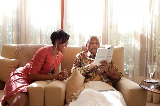Michelle Obama and Mandela by Samantha Appleton WH