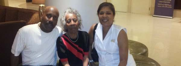 Alice Shurn with her son, Todd, and goddaughter, Daphne Gibson, at her sorority Delta Sigma Theta's convention in 2013. (Photos courtesy of Todd Shurn)