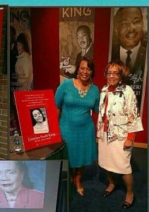 The Rev. Drs. Barbara Reynolds and Bernice King, the baby of the family, at a book signing at the King Center over the weekend. (Photo: Courtesy of Barbara Reynolds)