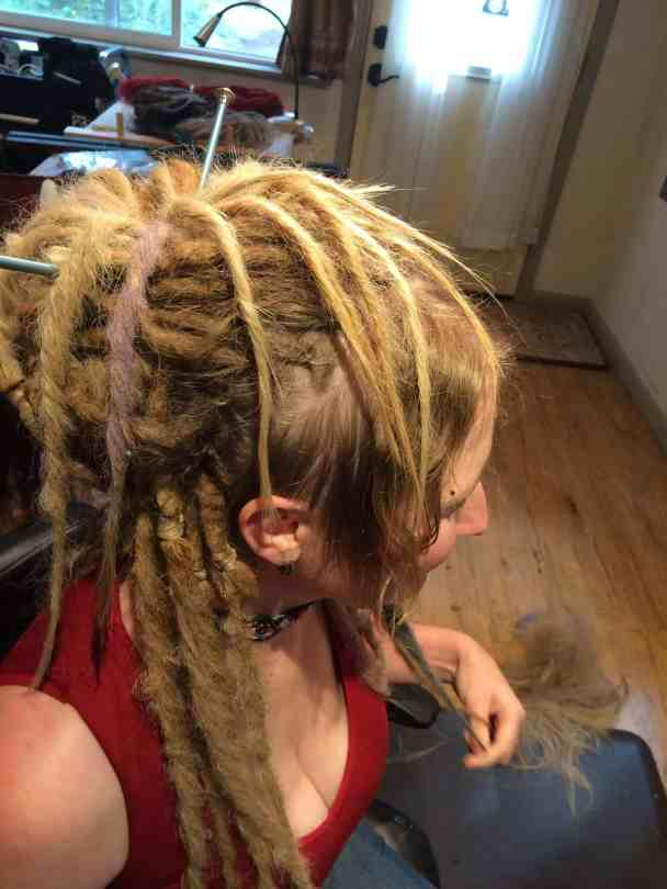 long dreadlocks with synth hair