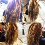 natural dreads plus, twists, plus human extension hair