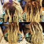 Basic base ties and separating the natural locks... took about 2 hours