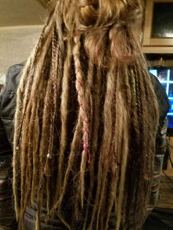 braids texture beads dreads natural tones