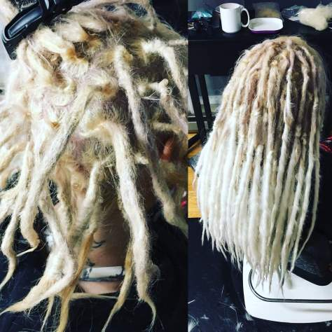 Ivory & Snow blonde blend synth dread lengtheners