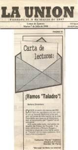 Un mail publicado en el diario en 1998
