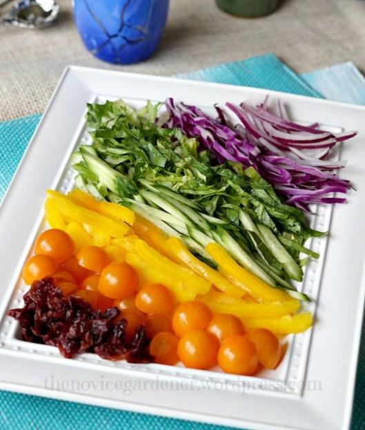 rainbow salad | fiestafriday.net