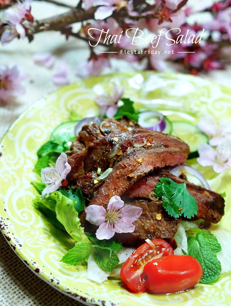 Thai Beef Salad | fiestafriday.net
