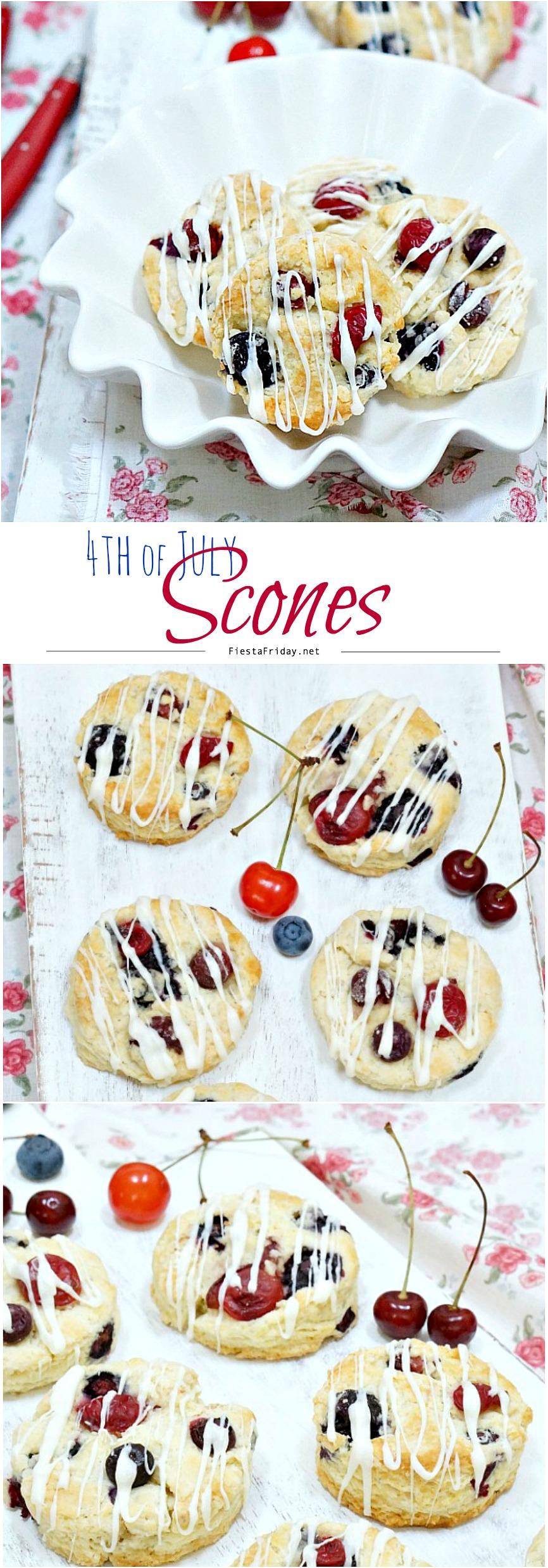 4th of july scones | fiestafriday.net