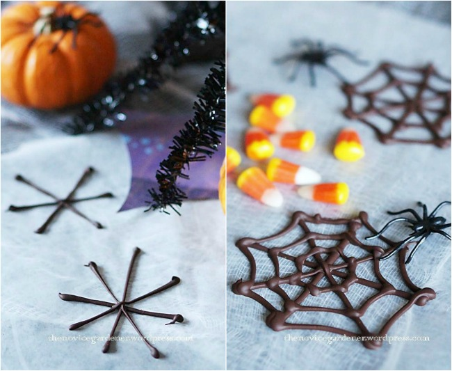 How to make chocolate cobweb decorations