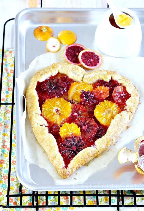Blood Orange Tart | FiestaFriday.net