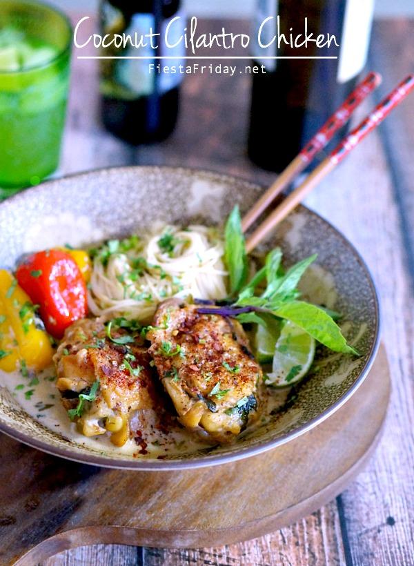 coconut cilantro chicken   fiestafriday.net