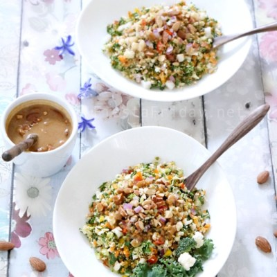 Chopped Salad with Almond Butter Dressing