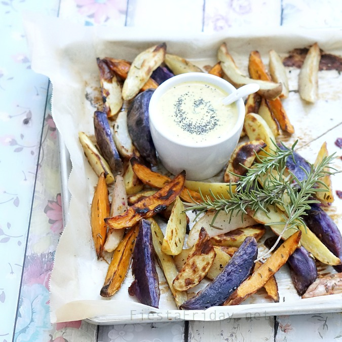 rosemary potatoes with lemon poppy seed sauce