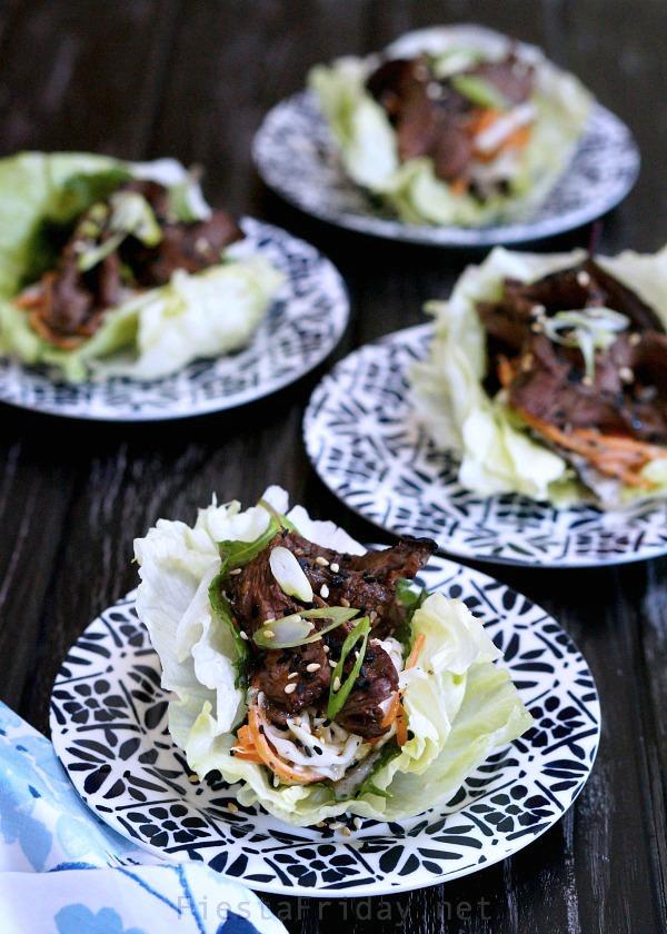 grilled steak lettuce cups | fiestafriday.net