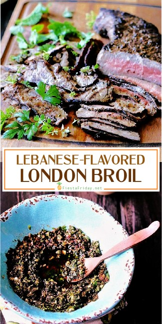 Seasoned right, inexpensive cuts of beef like top or bottom round steaks, aka London Broil, can make an exceptionally satisfying meal, perfect for feeding a crowd without breaking the bank! #steak #londonbroil #lebanese #middleeastern #gyro #beef
