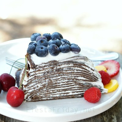 Chocolate Cheesecake Crepe Cake