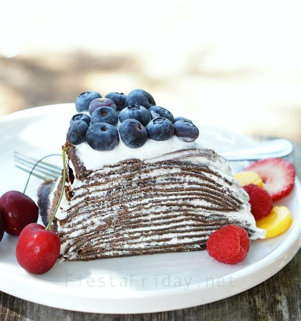 chocolate-cheesecake-crepe-cake | fiestafriday.net
