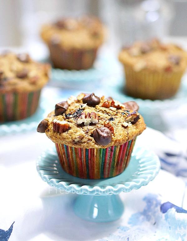 chocolate-chip-espresso-banana-nut-muffin | fiestafriday.net