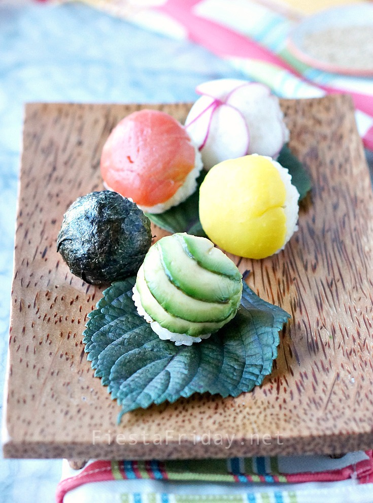 Temari Sushi Balls | FiestaFriday.net