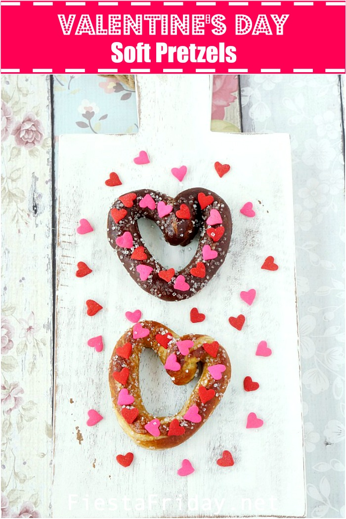 Valentine's Day Soft Pretzels #pretzel #softpretzel #homemade #valentinesday #bread #snack