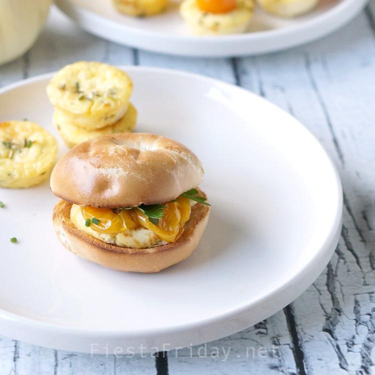 Thanksgiving Mini Savory Cheesecake Appetizer   FiestaFriday.net #thanksgiving #appetizer #cheesecake #savory #ricotta #tomatoes #vegetarian